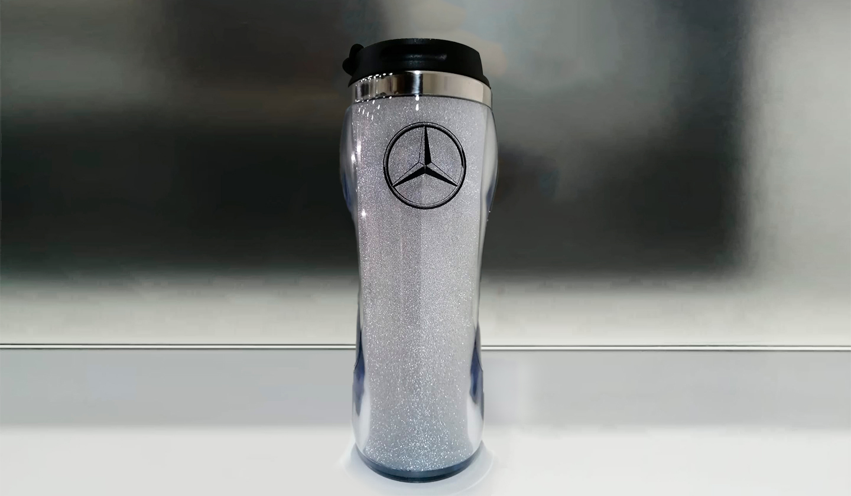 Botella Escarchada Plata