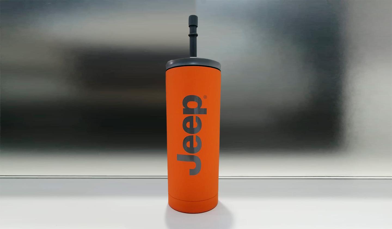 Botella Naranja Jeep Pajilla