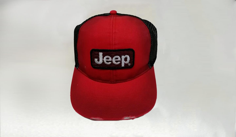 Gorra Jeep Rojo Mesh Back